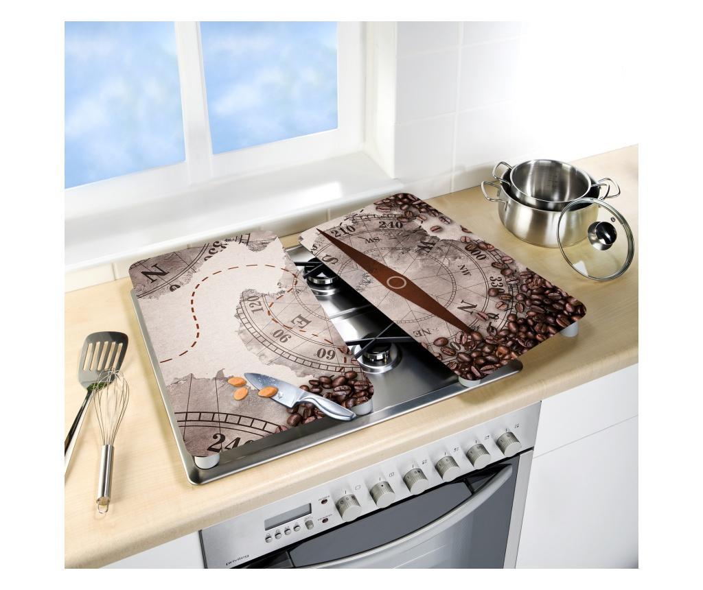 Zestaw 2 płyt ochronnych na kuchenkę Universal Compass