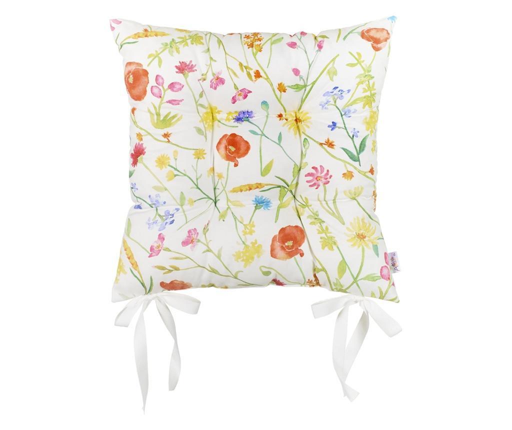 Sedežna blazina Slim Flowers 37x37 cm