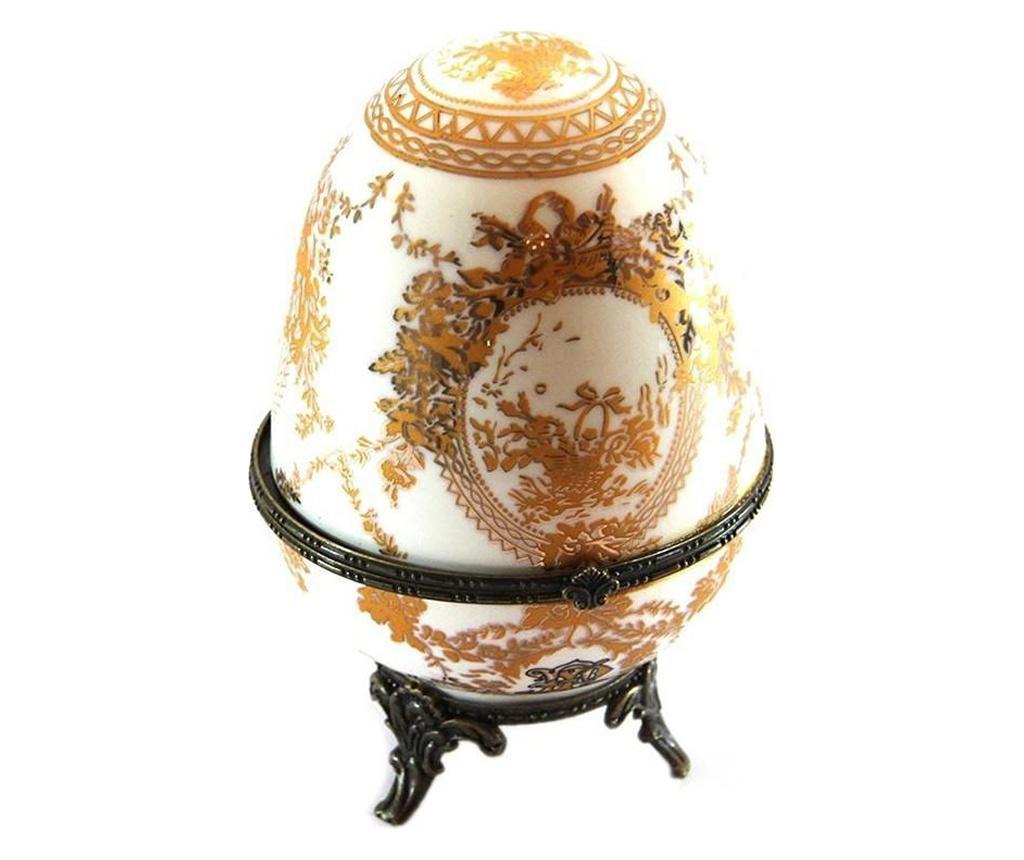 Gold and Ivory Egg Doboz fedővel