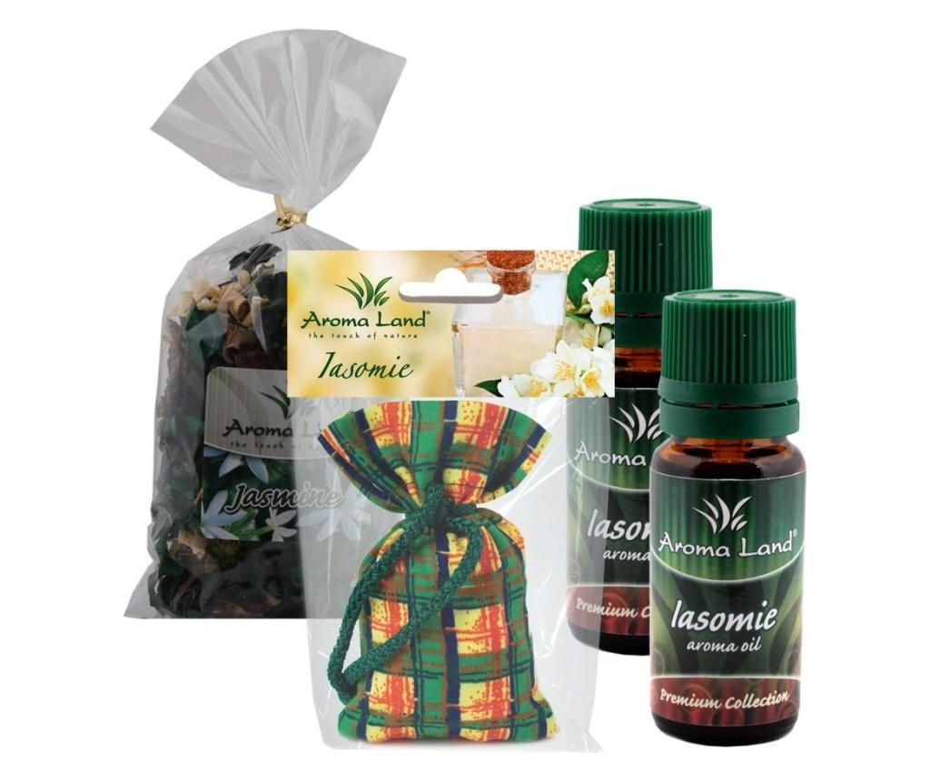 Set 1 mirisna vrećica, 2 eterična ulja i 1 potpourri Jasmine