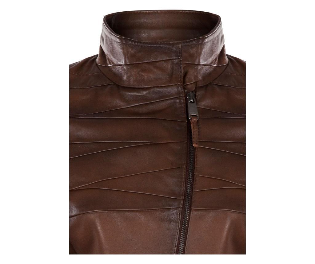 Ženska usnjena jakna Iparelde Chestnut L