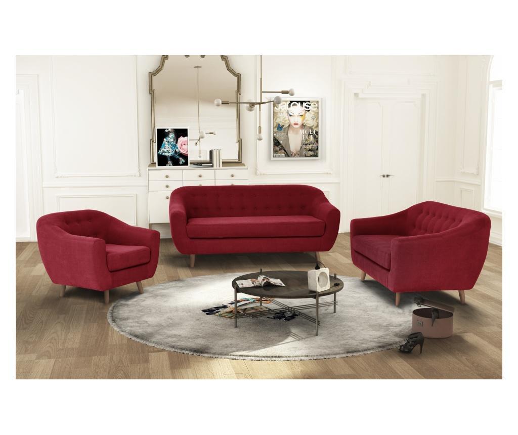 Canapea 3 locuri Vicky Glamour Red