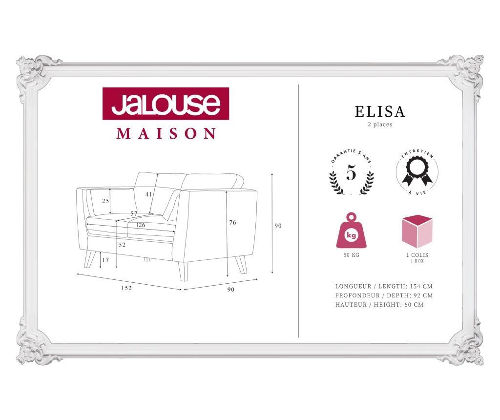 Kauč dvosjed Elisa Lagoon
