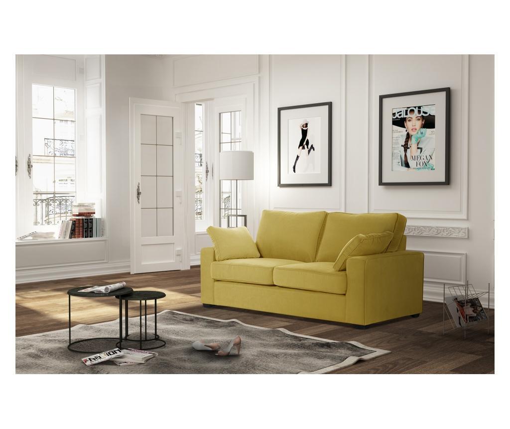 Canapea extensibila 2 locuri Serena Yellow