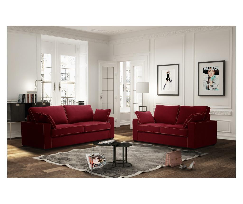 Sofa dvosjed na razvlačenje Serena Glamour Red