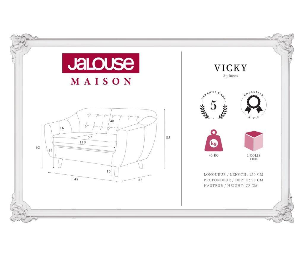 Canapea 2 locuri Vicky Ashen Brown