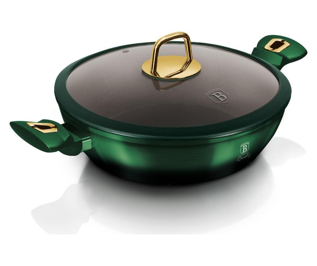 Plitki lonac s poklopcem Emerald 28 cm