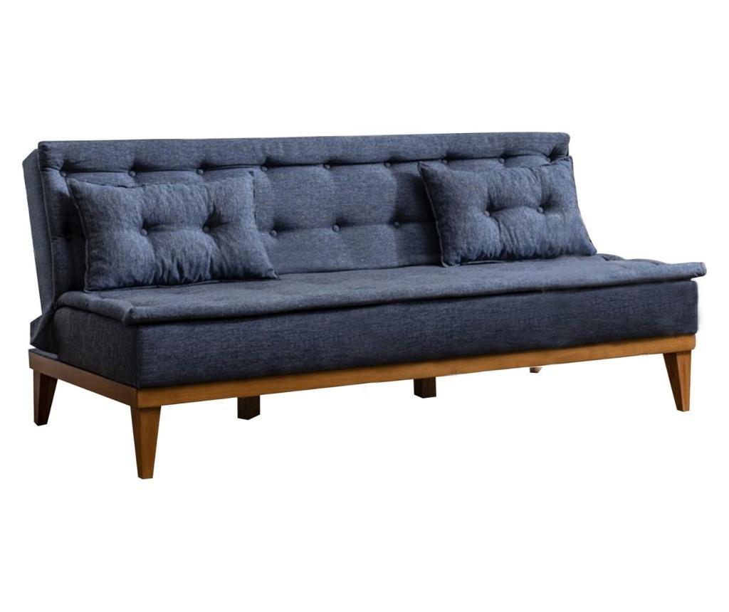 Ralph Dark Grey Háromszemélyes kihúzható kanapé