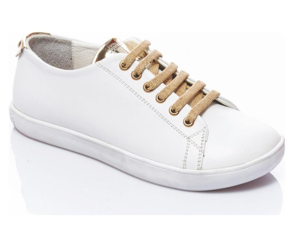 Pantofi sport dama Klara White-Gold 38