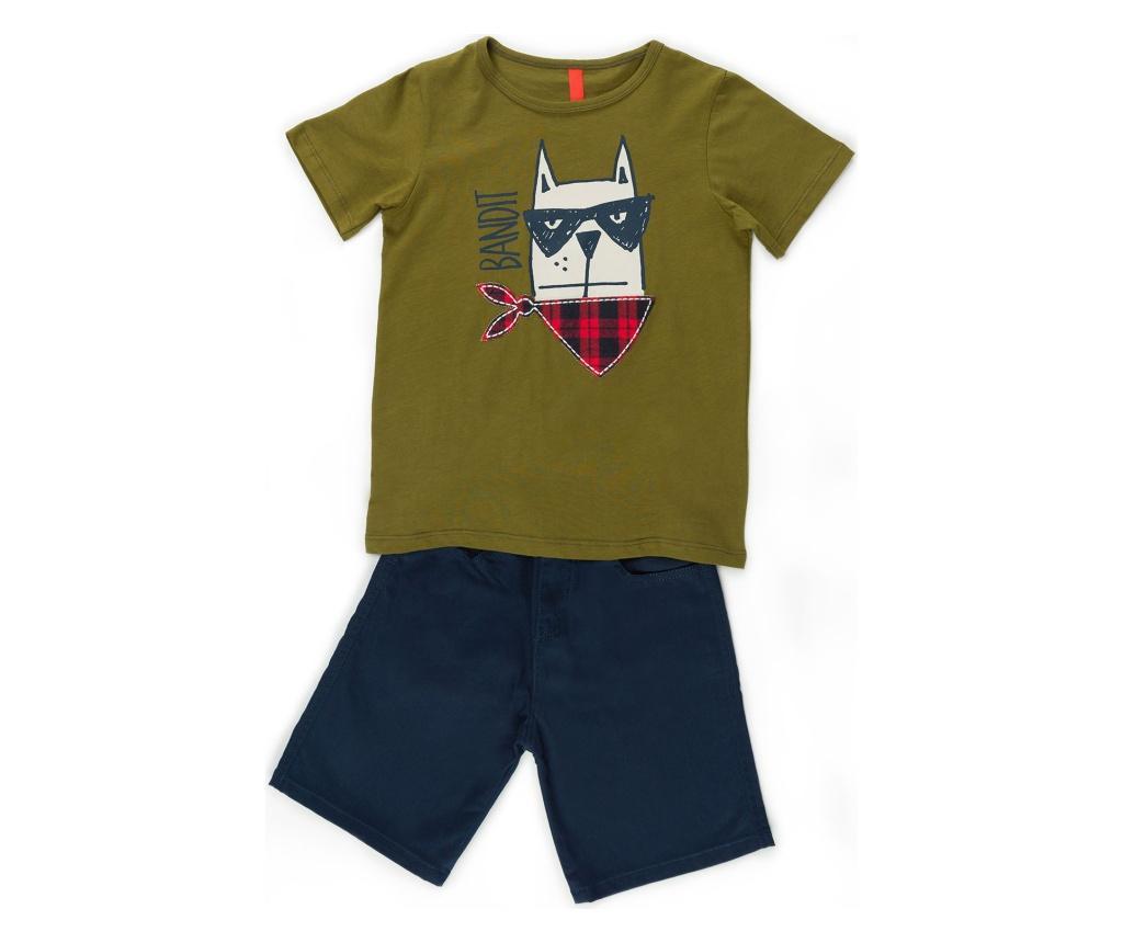 Otroški komplet - majica s kratkimi rokavi in kratke hlače Bandit Bro Gabardine 5 years