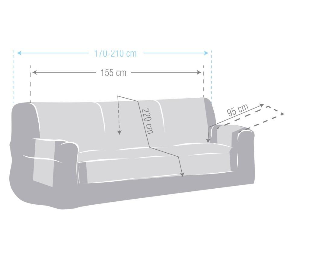 Chenille Salva Cream Háromszemélyes kanapé huzat 170-210 cm