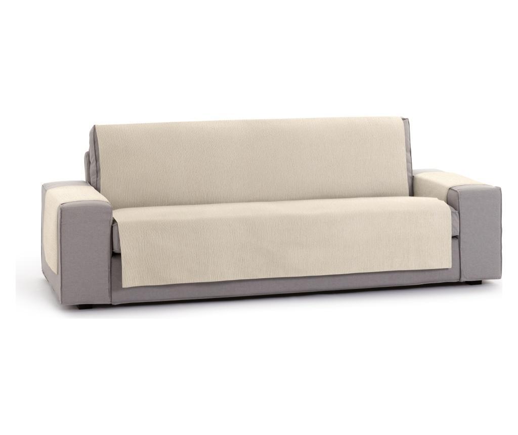Husa pentru canapea cu 2 locuri Chenille Salva Cream 120-170 cm