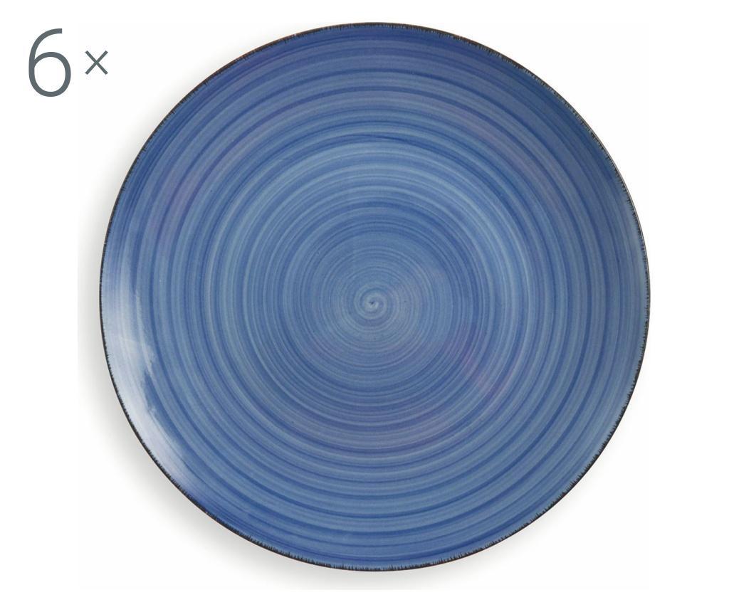 New Baita Blue 6 db Tányér