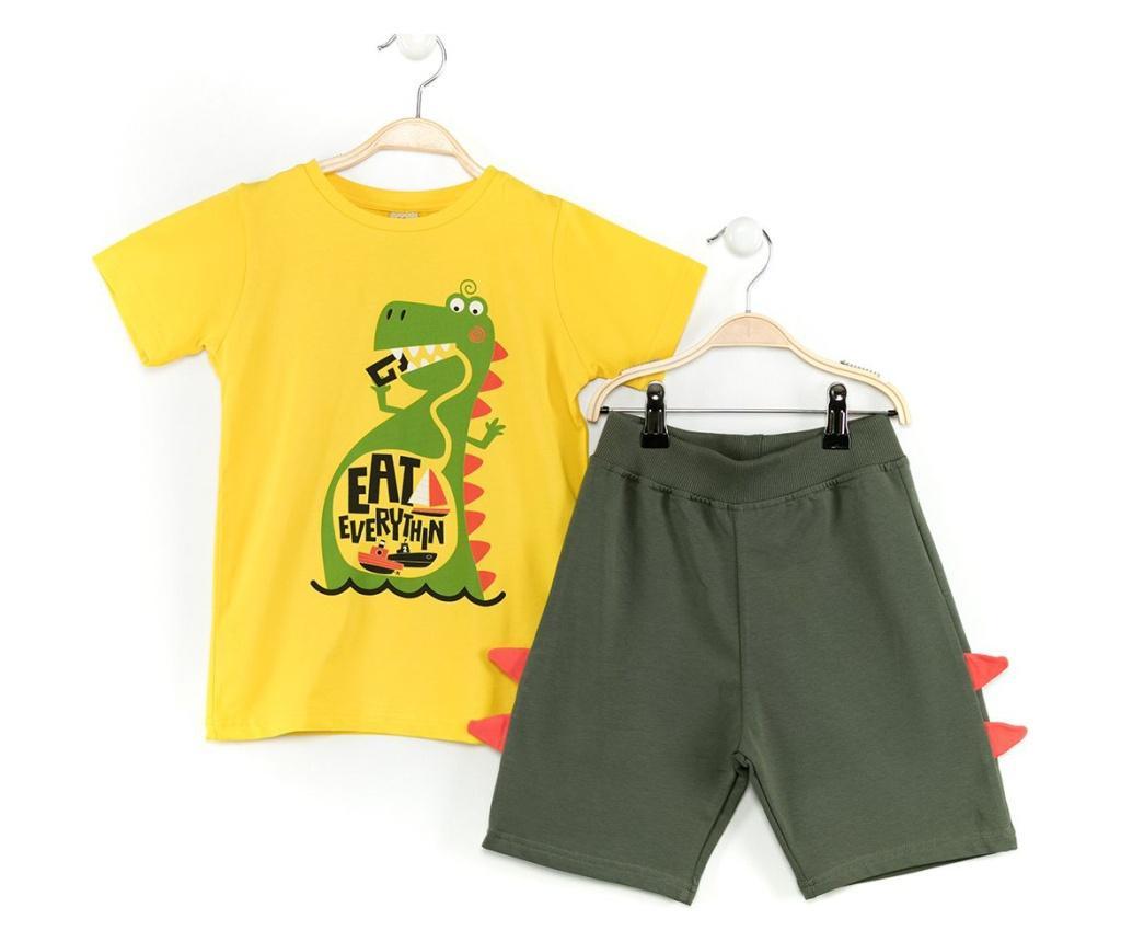 Set tricou si pantaloni scurti pentru copii Eat Everything 4 years