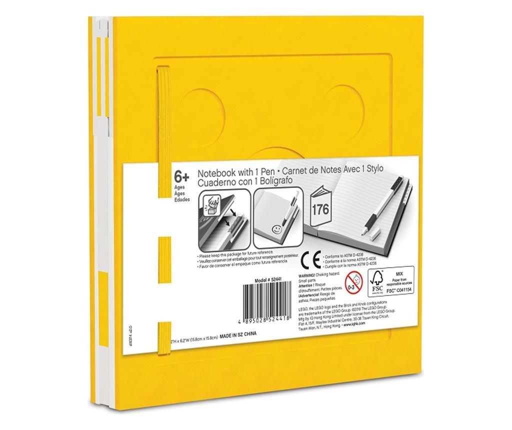 LEGO Yellow Jegyzettömb és golyóstoll