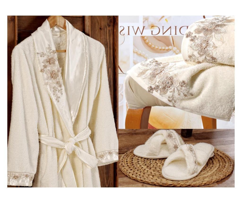 Percevie Cream 4 db-os Fürdőszobai textilkészlet
