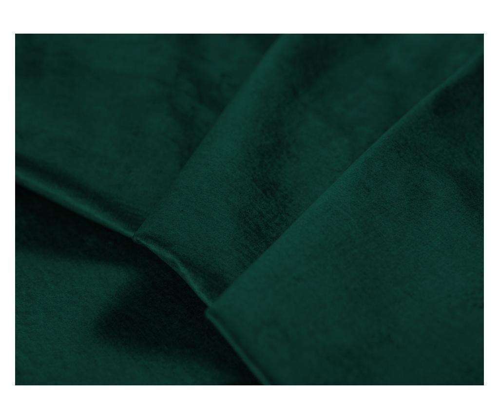 Lijeva kutna garnitura na razvlačenje Liege Velvet Bottle Green