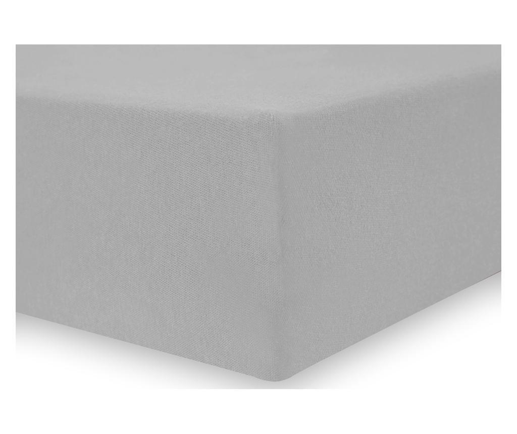 Cearsaf de pat cu elastic Amelia Silver 160x200 cm
