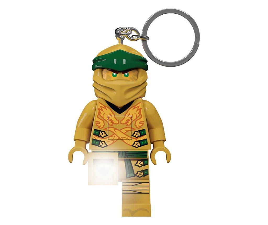 Ninjago Gold Ninja Kulcstartó zseblámpával