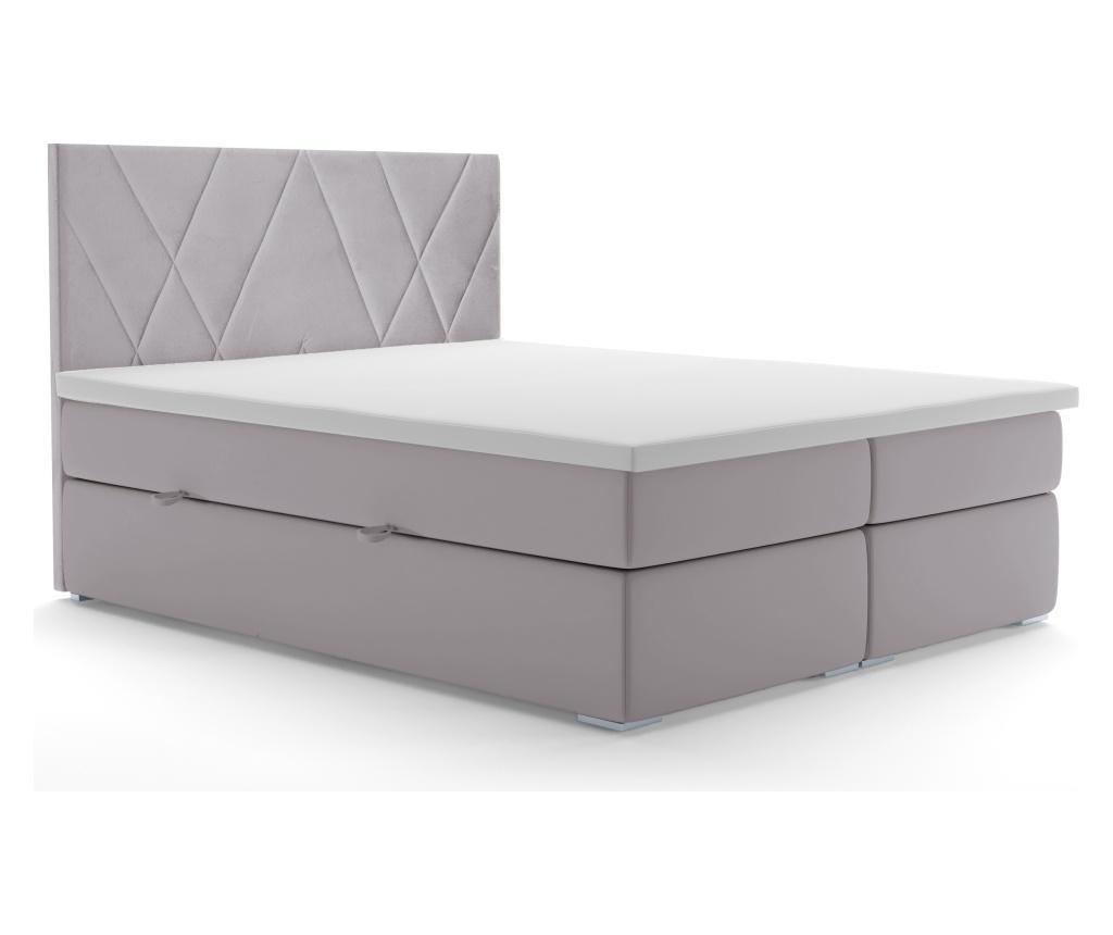 Základňa matraca a čelo postele Opulance Light Grey 180x200 cm