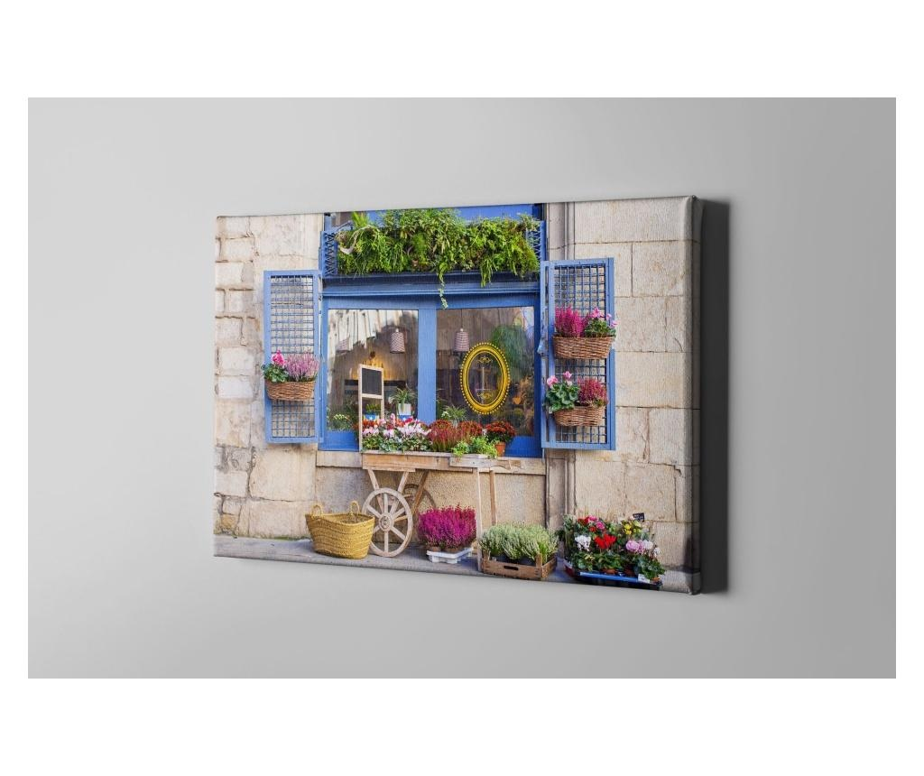 Flowered Window Kép 30x40 cm