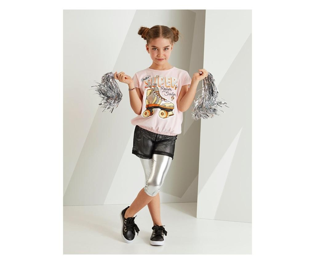 Set tricou si colanti copii Roller Skate 7 years