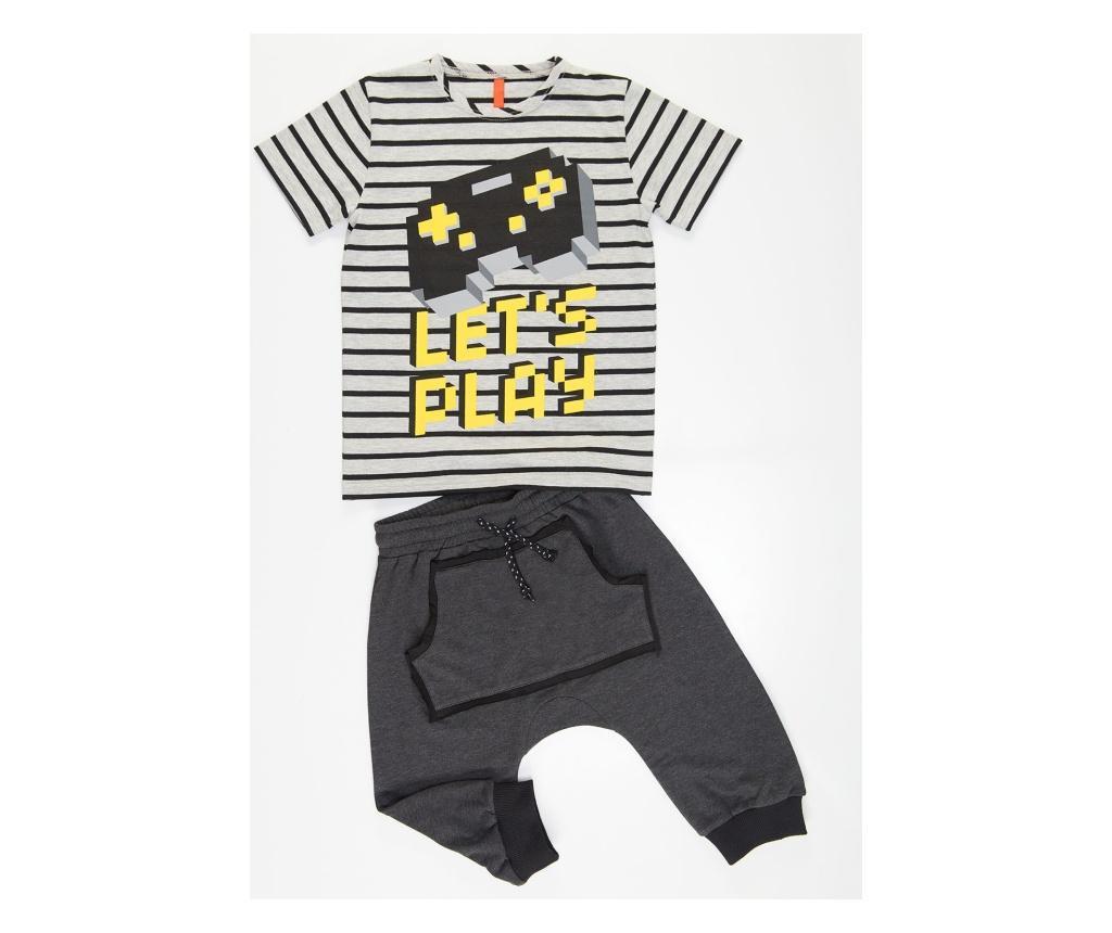 Set tricou si pantaloni pentru baieti Lets Play 7 years