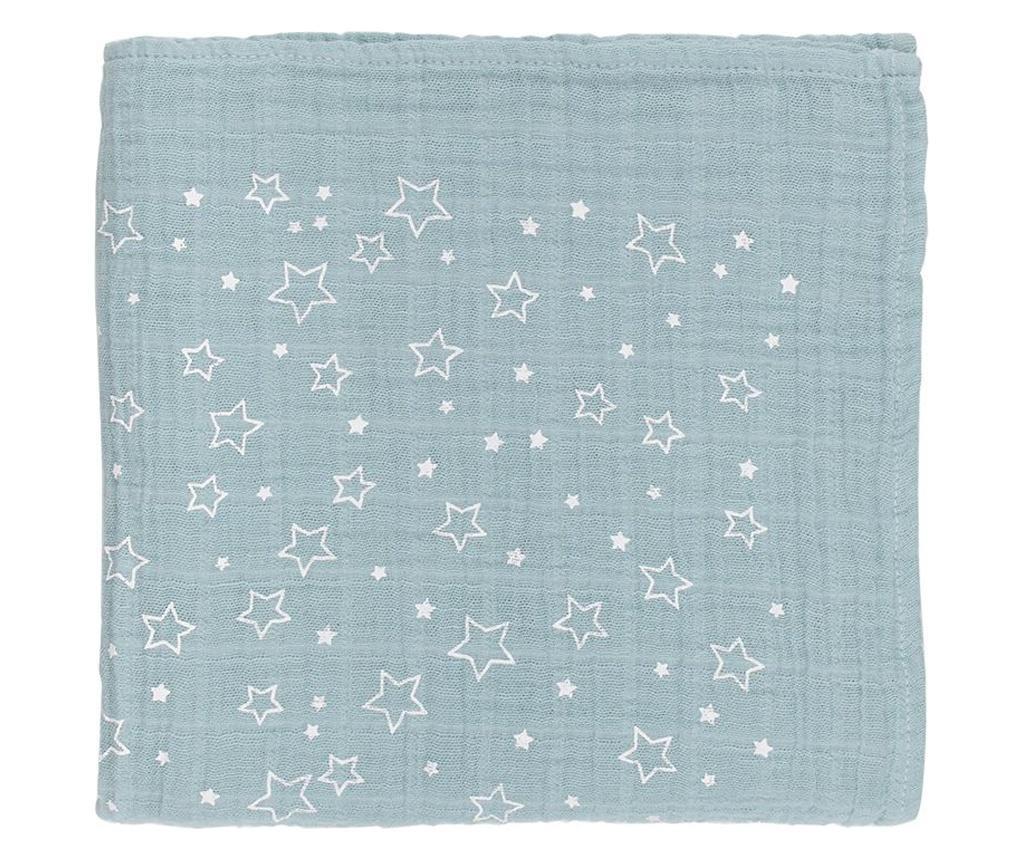 Twinkle Star Mint Muszlin anyag 110x110 cm
