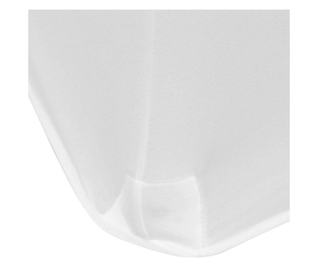 Elastyczny pokrowiec na stół 243x76x74 cm, 2 szt., białe