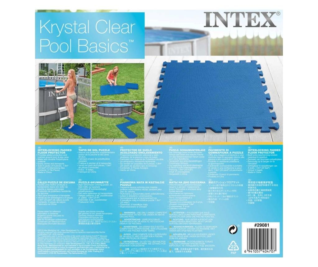 Intex Maty ochronne pod basen, 8 szt., 50x50 cm, niebieskie