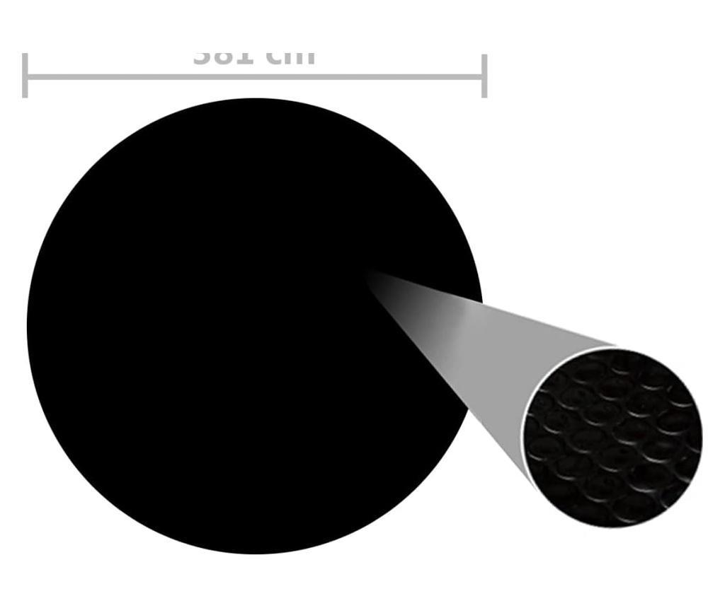 Pokrywa na basen, czarna, 381 cm, PE