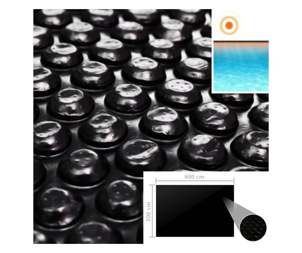 Pokrywa na basen, czarna, 600 x 300 cm, PE