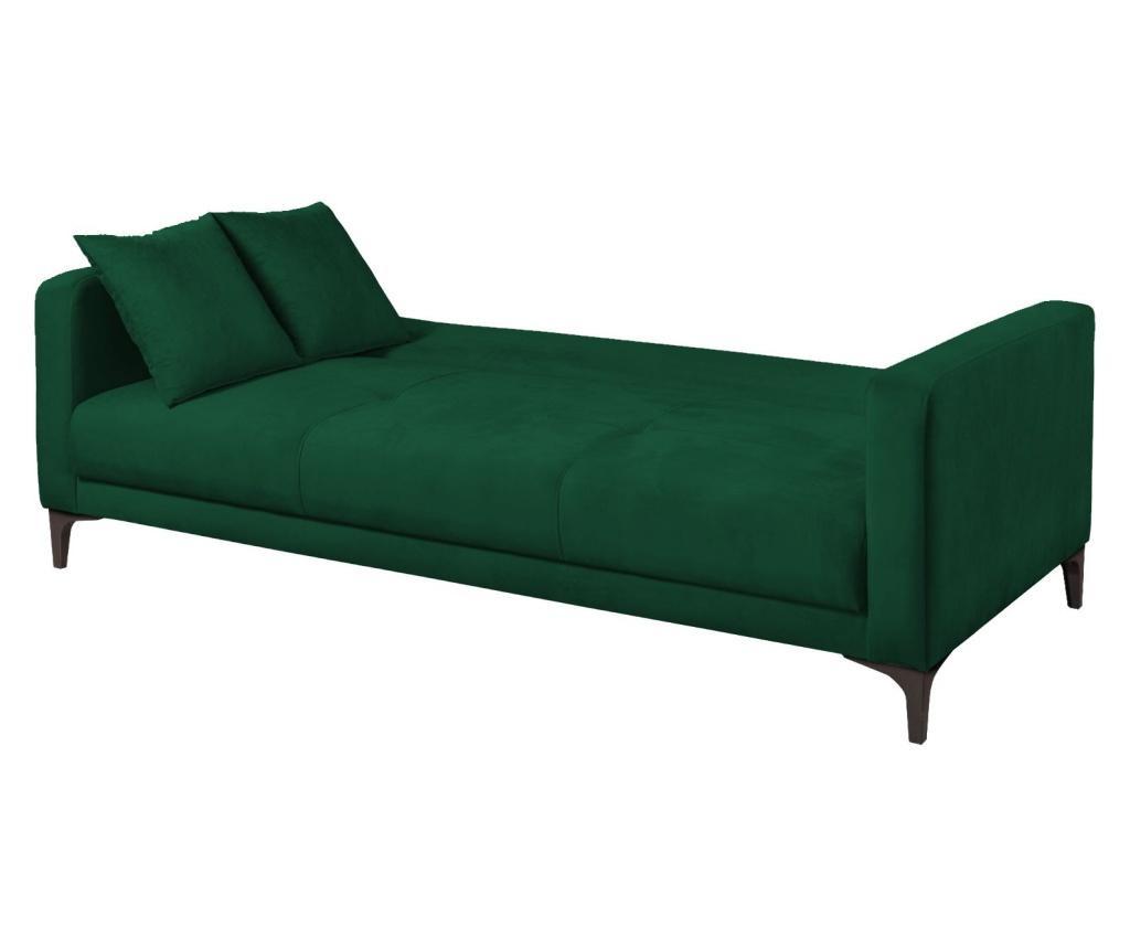 Velvet Dark Green Kihúzható háromszemélyes kanapé