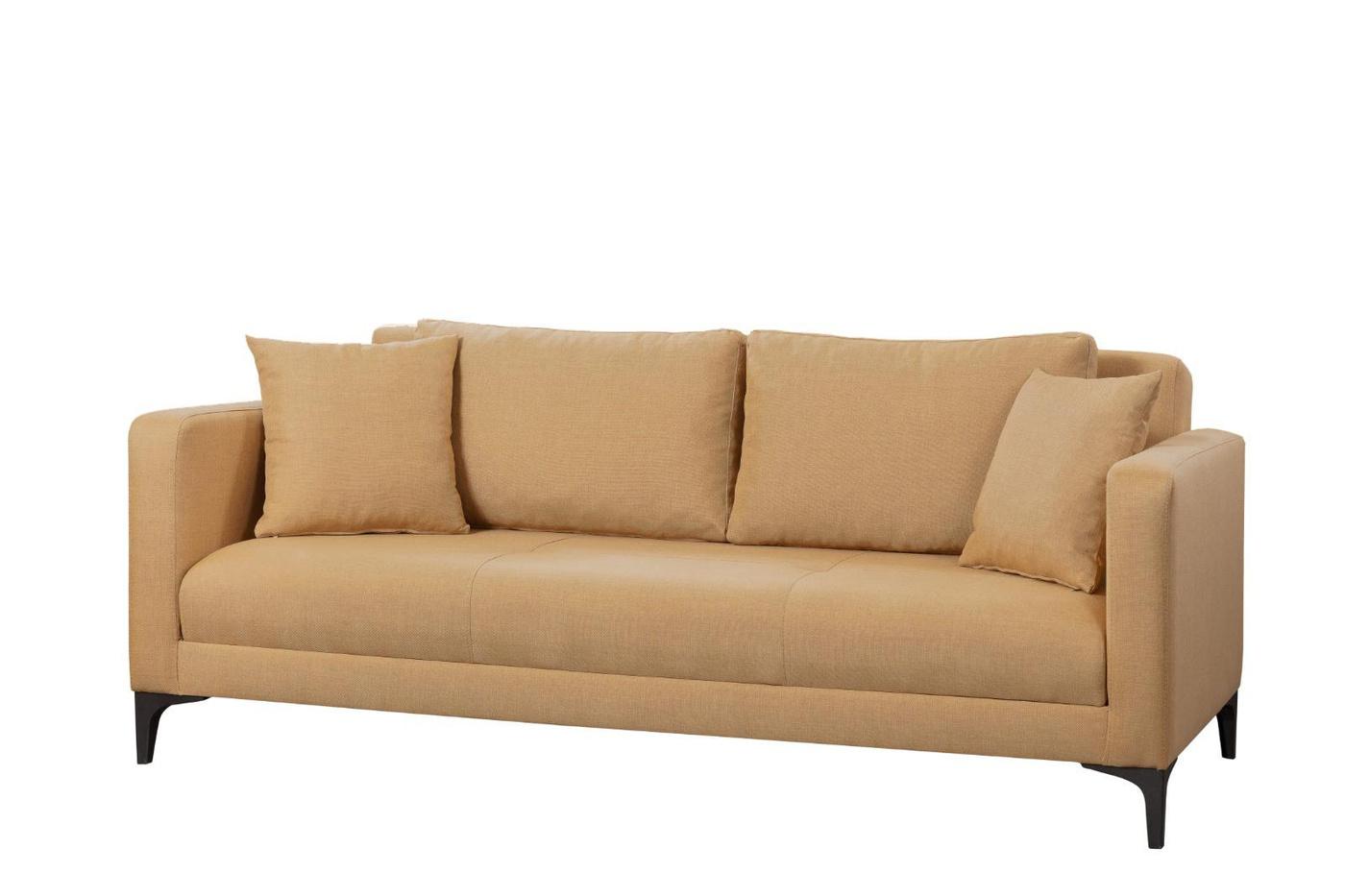 Gauge Concept Light Brown Kihúzható háromszemélyes kanapé