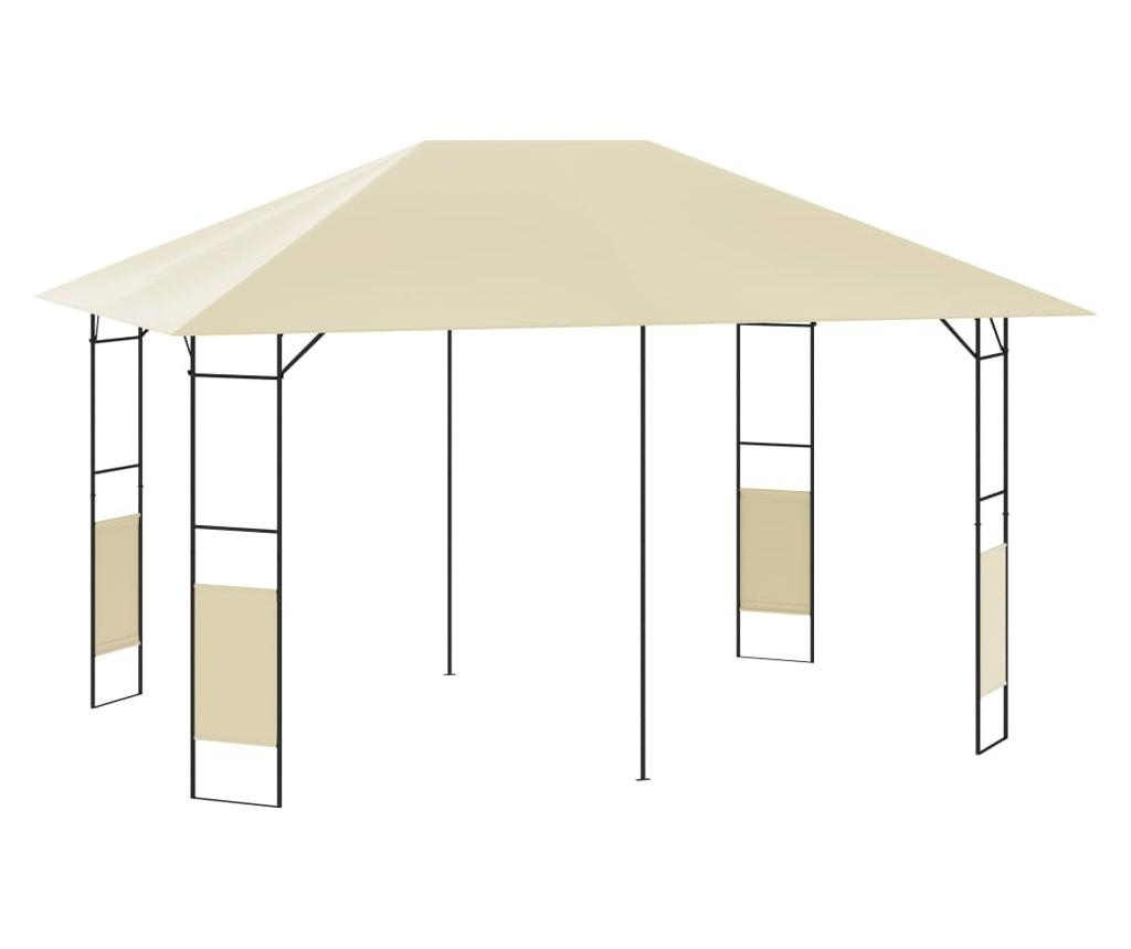 Altana ogrodowa, 4x3 m, kremowa, 160 g/m²