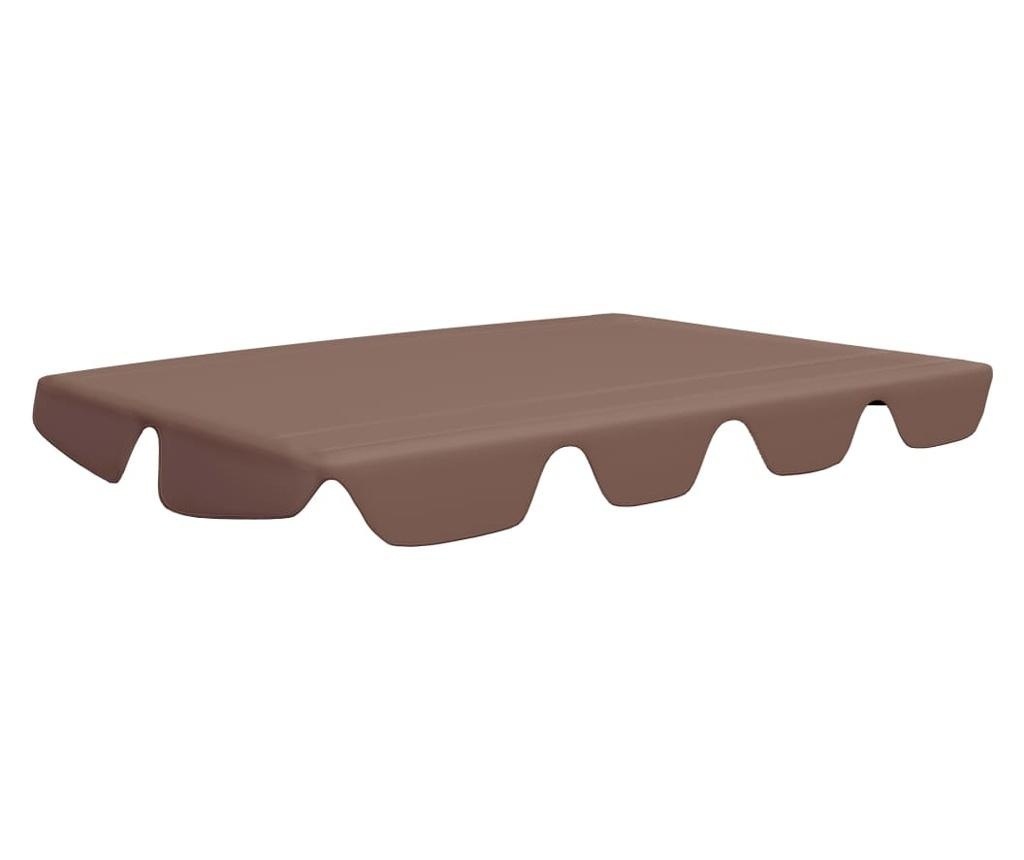 Zadaszenie do huśtawki ogrodowej, brązowe, 226x186 cm, 270 g/m²