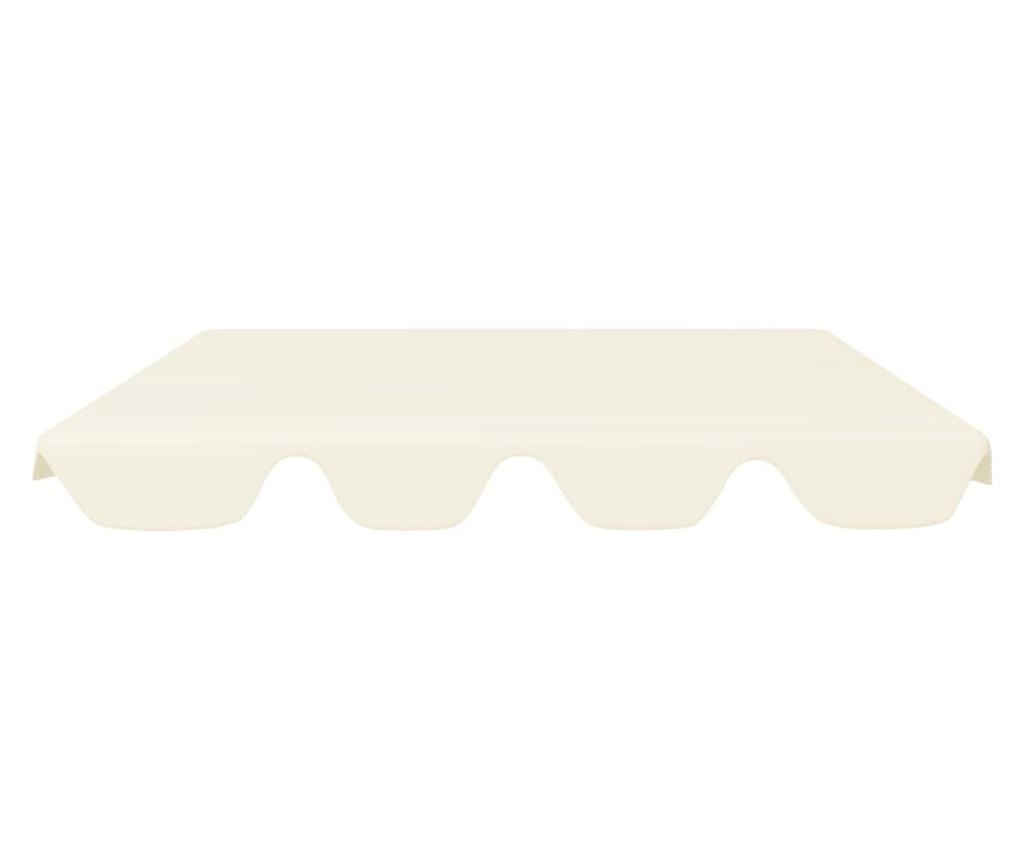 Zadaszenie do huśtawki ogrodowej, kremowe, 192x147 cm, 270 g/m²